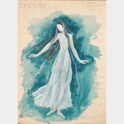 Hugh Stevenson (British, 1910-1956)      Costume Design for Neptune the Mystic-The Woman   in The Planets