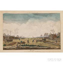 After Nicolas-Dauphin de Beauvais (French, c. 1687-1763)      Hyver, Vue de Santuliet Village de Hollande
