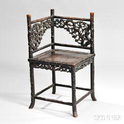 Hardwood Corner Chair