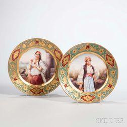 Two Dresden Porcelain Cabinet Plates