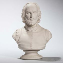 Wedgwood Carrara Bust of Shakespeare