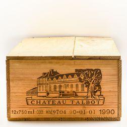 Chateau Talbot 1990, 12 bottles (owc)