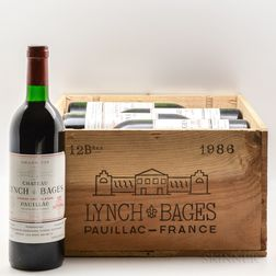 Chateau Lynch Bages 1986, 12 bottles