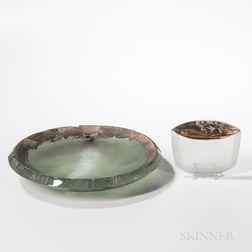 Yoko Kuramoto Vessel of the Sea   and Adornment   Art Glass Sculptures