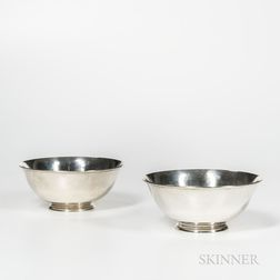 Two Arthur Stone Arts and Crafts Sterling Silver Bowls