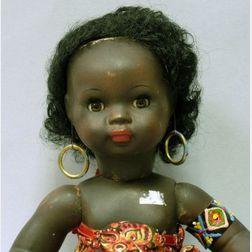 Black Painted Papier-mache Baby Doll
