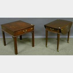 Kittinger Richmond Hill Chippendale-style Mahogany End Table and a Federal-style Mahogany Drop-leaf Pembroke Table.