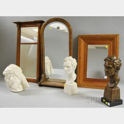 Bronze and Molded Plaster Busts of Abraham Lincoln, an Arab Plaque, and Three   Mirrors