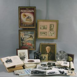 Small Collection of Thomas Edison-related Memorabilia and Ephemera