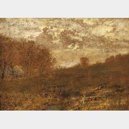 Alexander Helwig Wyant (American, 1836-1892)      Meadow Sketch
