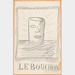 René Magritte (Belgian, 1898-1967)      Le Bouchon