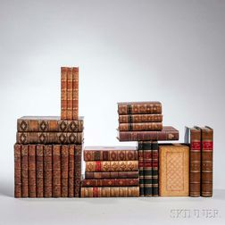 Decorative Bindings, Sets, Literature, Approximately Sixty Volumes.