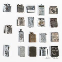 Nineteen World War II Lighters