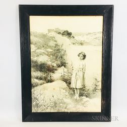 Framed Collotype Reproduction After William Ladd Taylor (American, 1854-1926)
