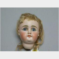 Kestner Closed Mouth Bisque Socket Doll Head