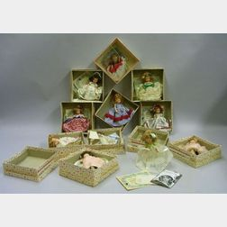 """Set of Twelve """"Doll of the Month Club"""" Dolls in Original Boxes"""