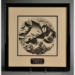 Framed Claire Leighton Engraving