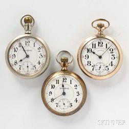 "Three Illinois ""Bunn Special"" Watches"