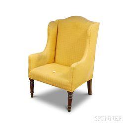 Regency Turned Mahogany Wing Chair