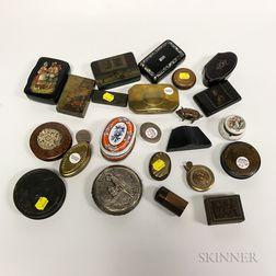 Twenty-four Metal, Wood, and Ceramic Boxes