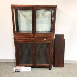 Continental Inlaid and Glazed Rosewood Cabinet