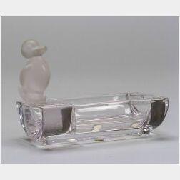 Sevres Glass Figural Ashtray