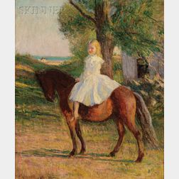 Edmund Charles Tarbell (American, 1862-1938)      Girl with Horse