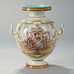 Wedgwood Emile Lessore Decorated Queen's Ware Vase