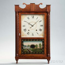 Jeromes & Darrow Mahogany Shelf Clock