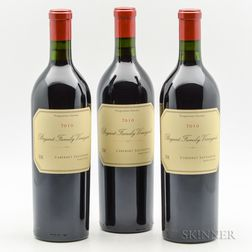 Bryant Family Cabernet Sauvignon Pritchard Hill (Proprietor Grown) 2010, 3 bottles