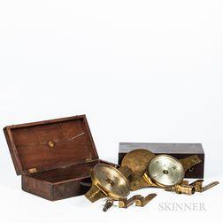 Two Benjamin Stancliffe & Edmund Draper Vernier Compasses