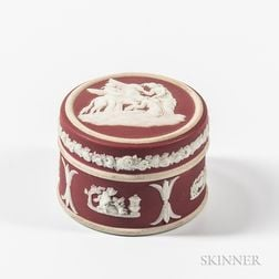 Wedgwood Crimson Jasper Dip Box and Cover