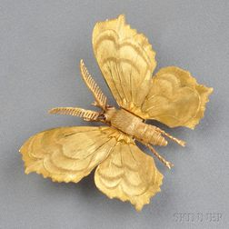 18kt Gold Butterfly Clip, Mario Buccellati