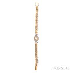 18kt Gold and Diamond Wristwatch, Cartier