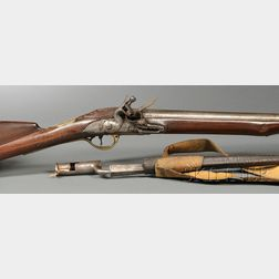 """First Model """"Brown Bess"""" Flintlock Rifle and Bayonet with Scabbard"""