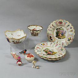 Ten Pieces of European and Asian Porcelain