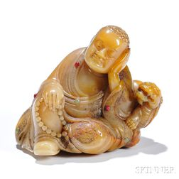 Soapstone Carving of a Monk