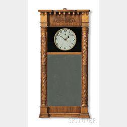 Asa Munger Mahogany Timepiece Shelf Clock