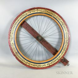 Painted Wood Wheel of Chance