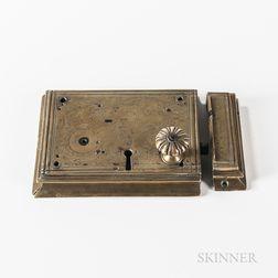 Early Dutch Brass Lock