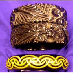 Three Bakelite Carved Bangles