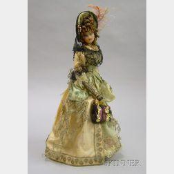 Wax Head Costume Doll