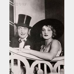 Lot of Three Photographs of Marlene Dietrich:      German School, 20th Century, Marlene on the Stairs