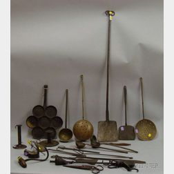 Group of Metal Hearth and Domestic Items