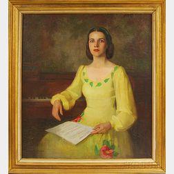 Marguerite Stuber Pearson (American, 1898-1978)      Portrait of Rita LaPlante Raffman.
