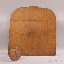 Foliate-carved Butter Stamp and a Walnut Cutting Board