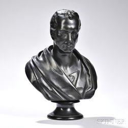Wedgwood Black Basalt Bust of George Stephenson