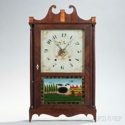 Elisha Neal Pillar and Scroll Shelf Clock
