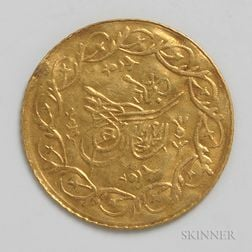 1223 Turkish Cedid Gold Coin.     Estimate $200-300