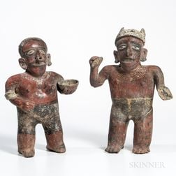Pair of Nayarit Male and Female Figures